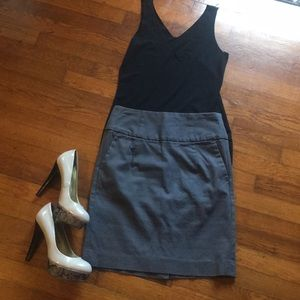 Charcoal Grey Banana Republic Pencil Skirt